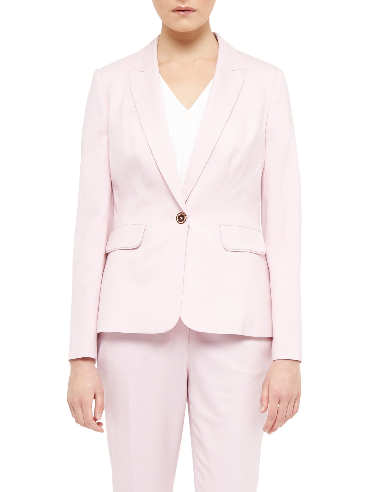 b6f829186 Ted Baker Soreli Tailored Jacket in Pink - Lyst