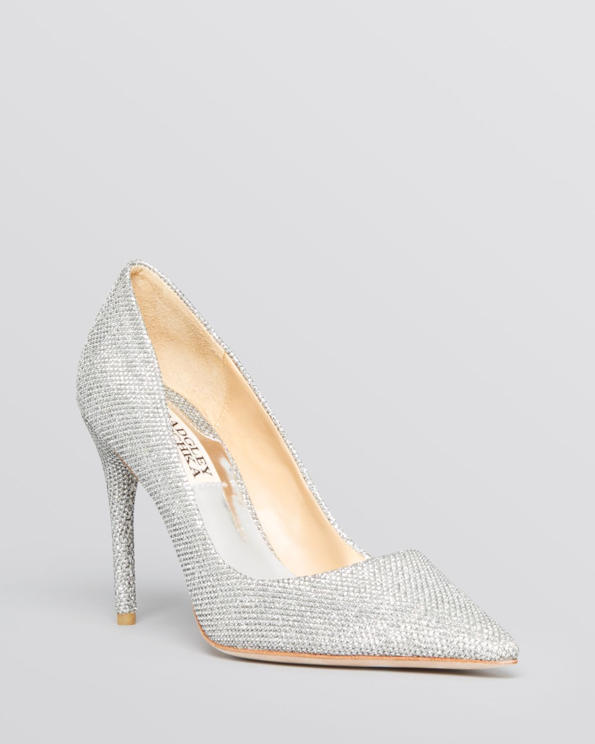 Badgley mischka Pointed Toe Evening Pumps - Luster High Heel in ...
