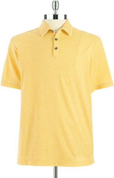 Tommy Bahama Modern Fit Polo Shirt In Yellow For Men Dark
