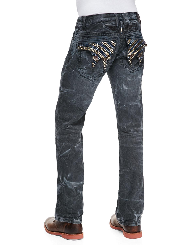 Lyst - Robin's jean Orlando Wash Navy Marble Denim Jeans ...