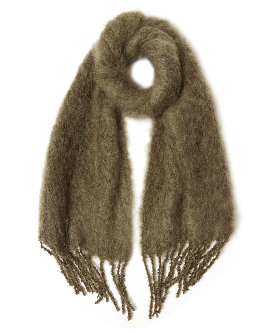Balmuir Khaki Kid Mohair Scarf In Natural Lyst