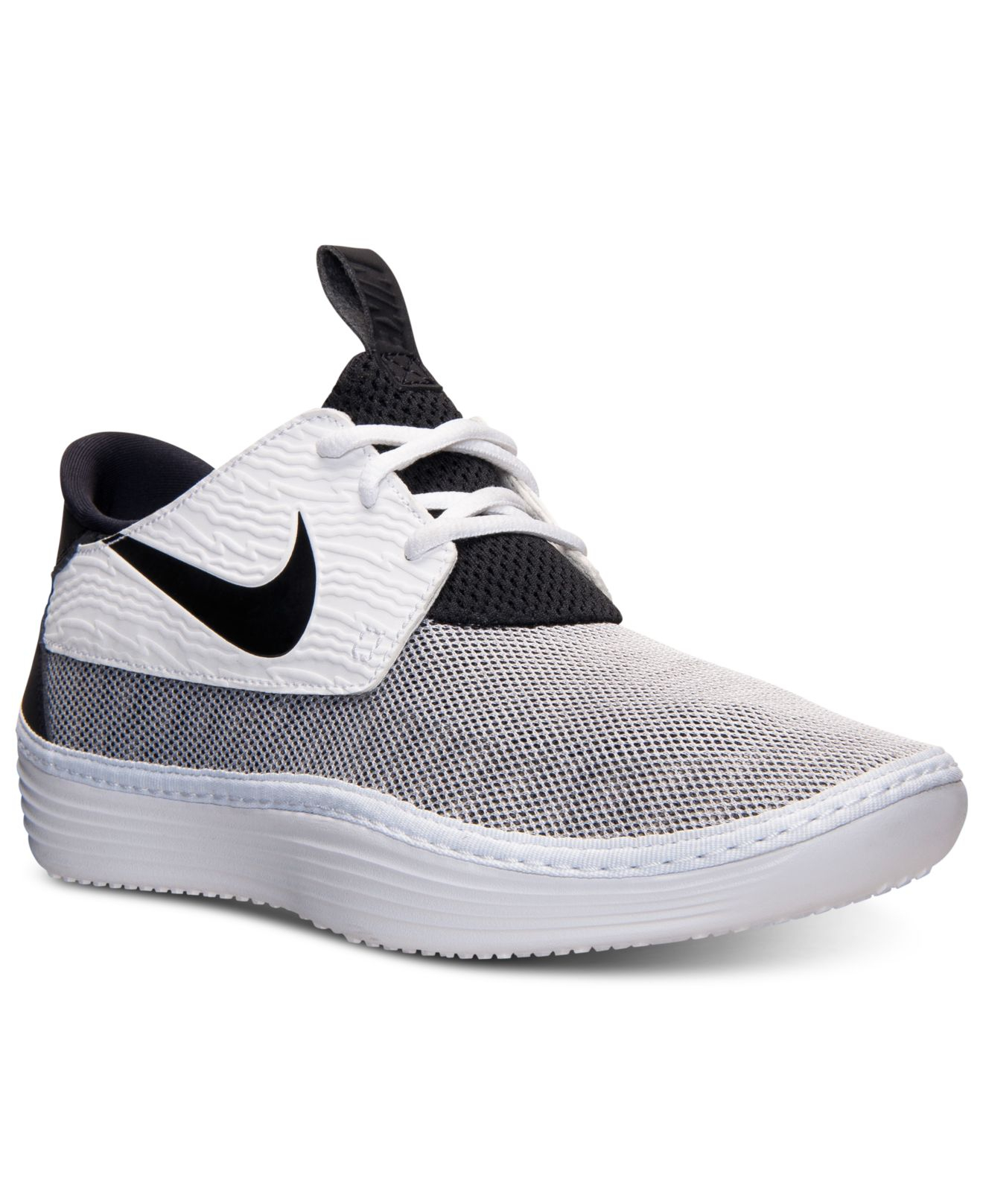 new product fe8aa 0ab5f ... svart sliver sko norge nike men u0027s solarsoft moccasin casual  sneakers from finish line in