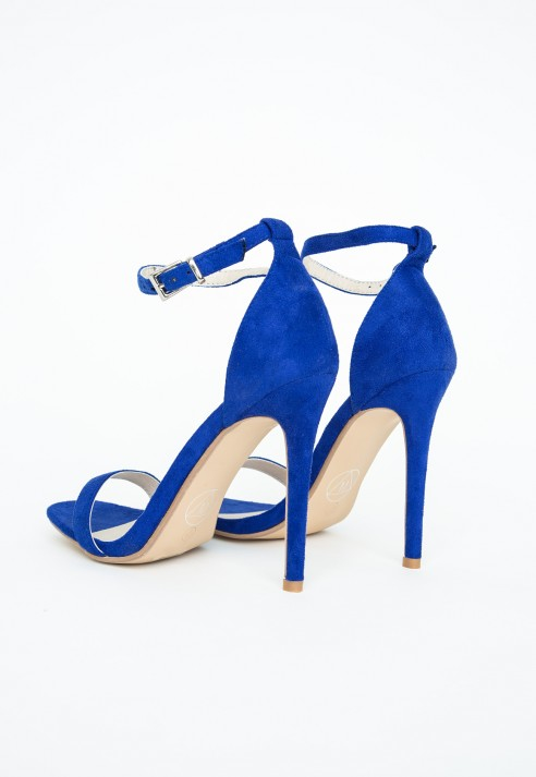 Missguided Clara Cobalt Blue Strappy Heeled Sandals in Blue | Lyst