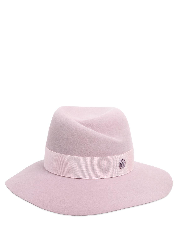 de6dcbfcf7ccb8 Lyst - Maison Michel Virginie Rabbit Fur Felt Hat in Pink