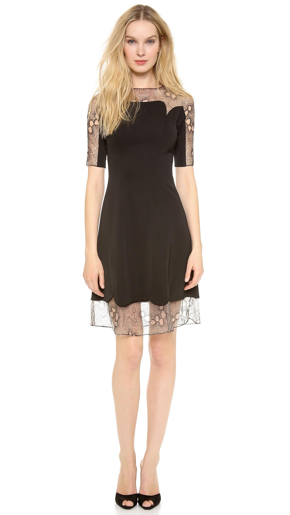 Black dress lace trim