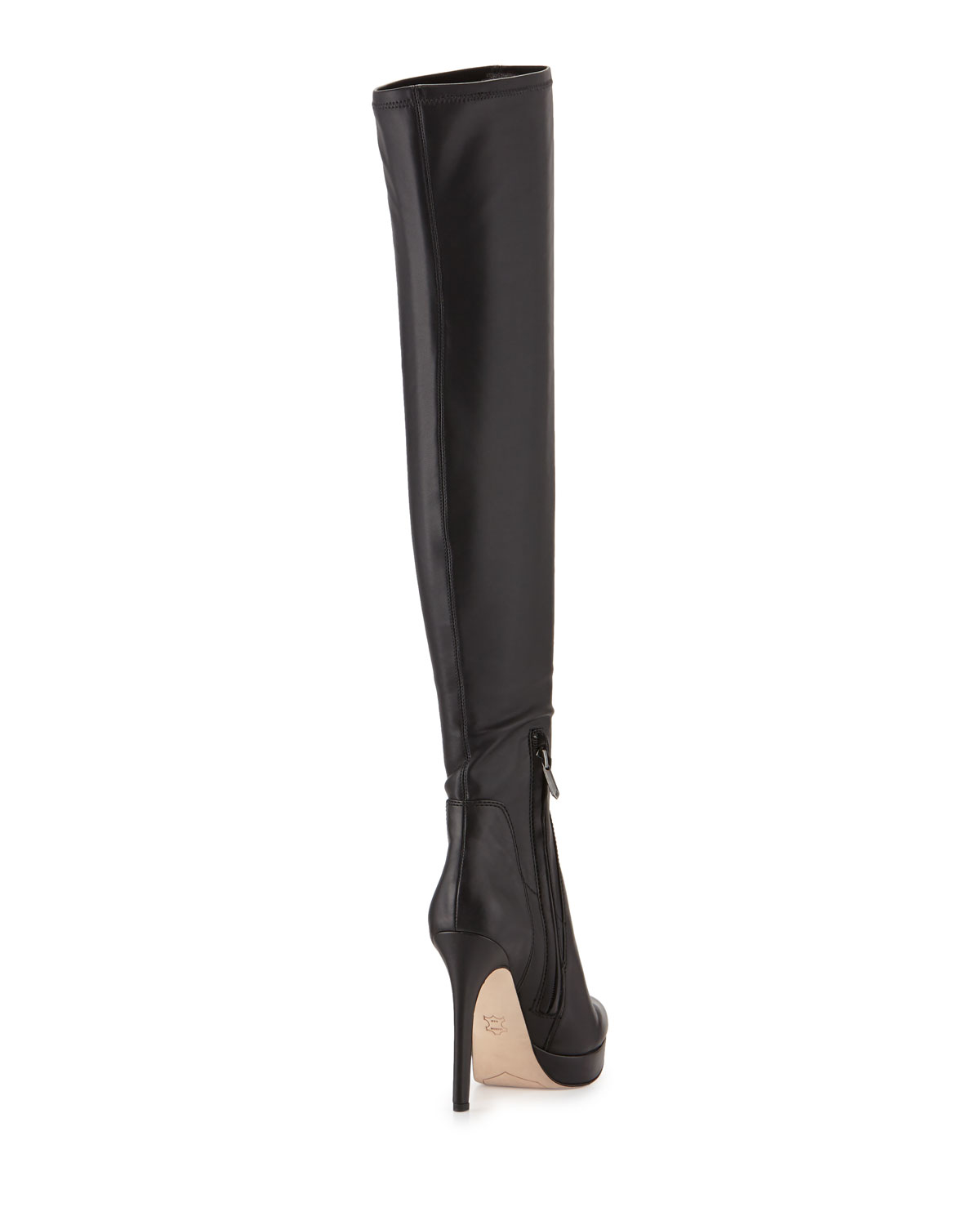 Sam edelman Amber Faux-Leather Over-The-Knee Boots in Black | Lyst