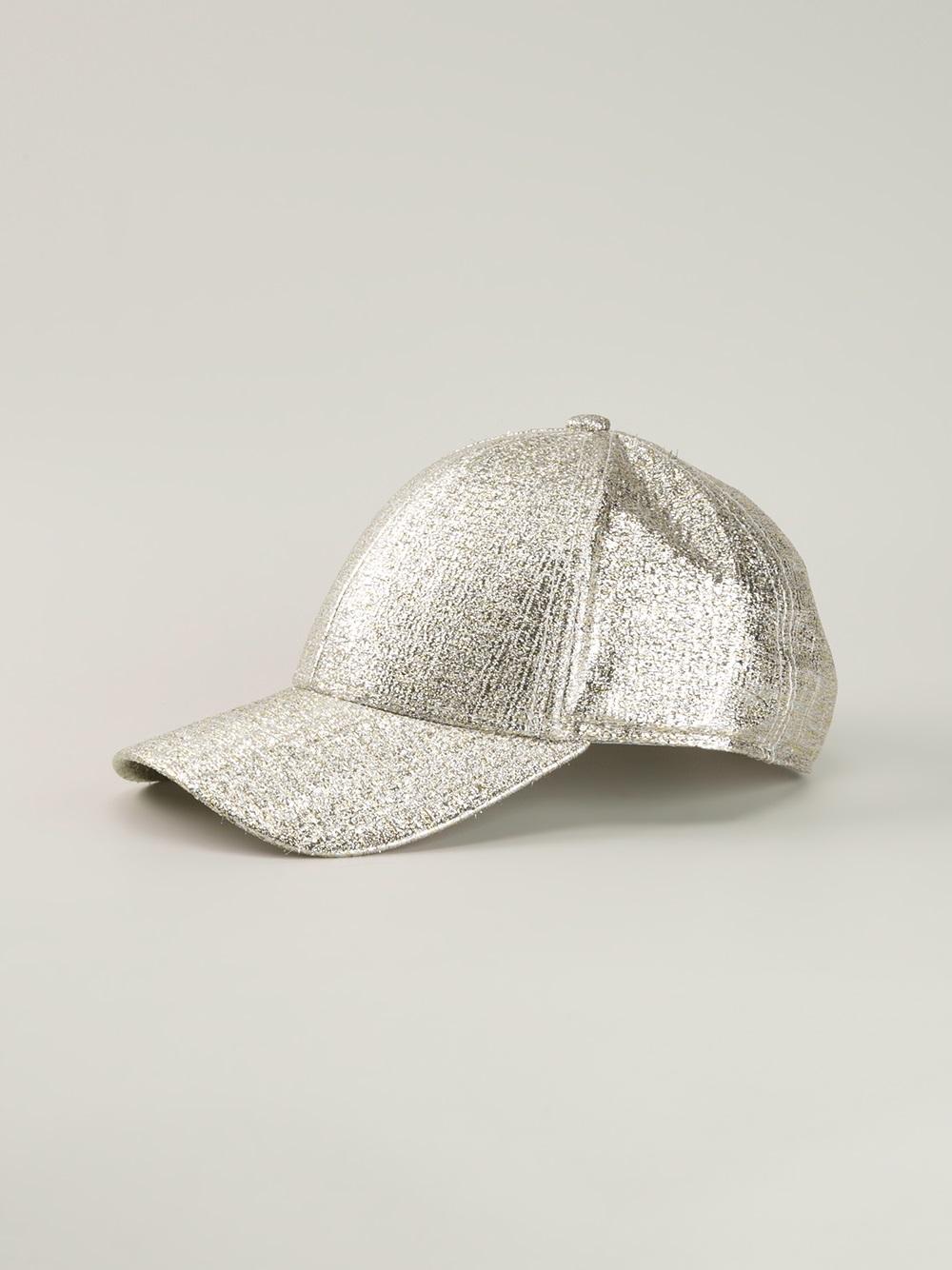 6db6f556815 Lyst - Acne Studios Camp Glitter Cap in Metallic for Men