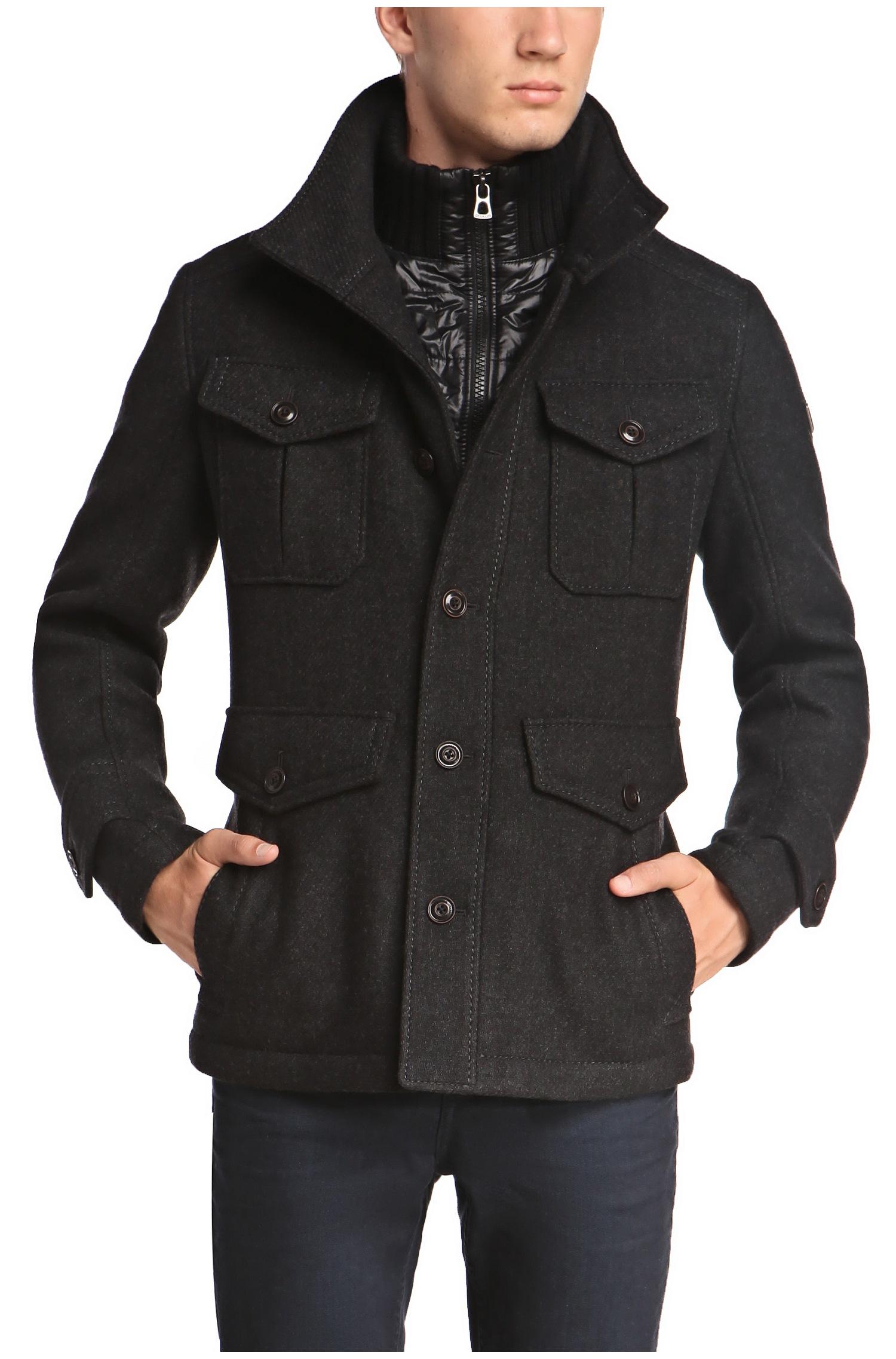 Boss Orange C Orfeys Wool Nylon Blend Field Jacket In