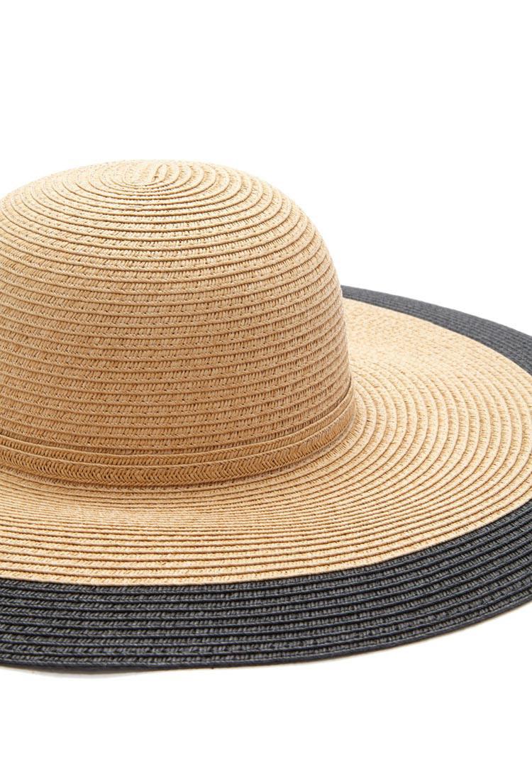 11c539d22dddc Lyst - Forever 21 Contrast-trim Floppy Straw Hat in Brown