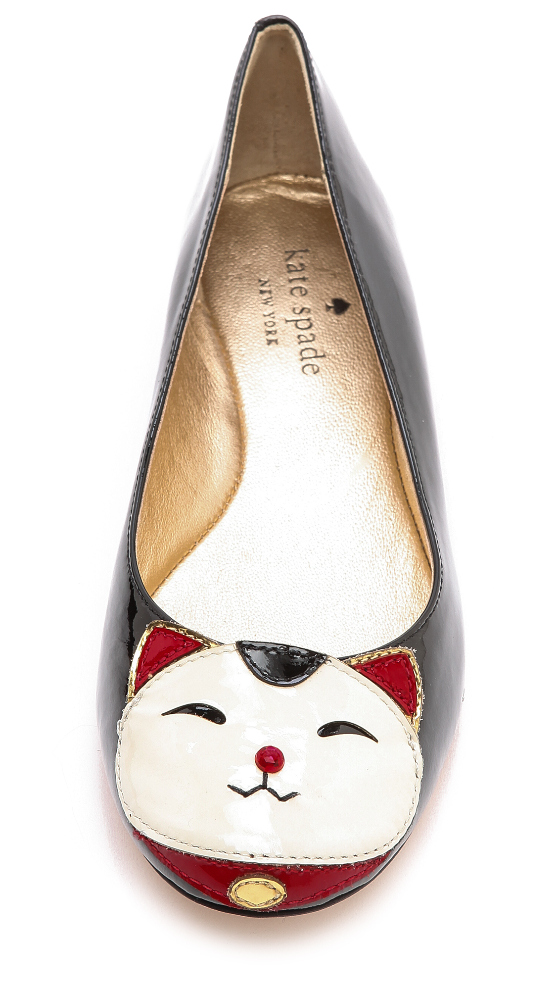 Black Flats With Cat Face