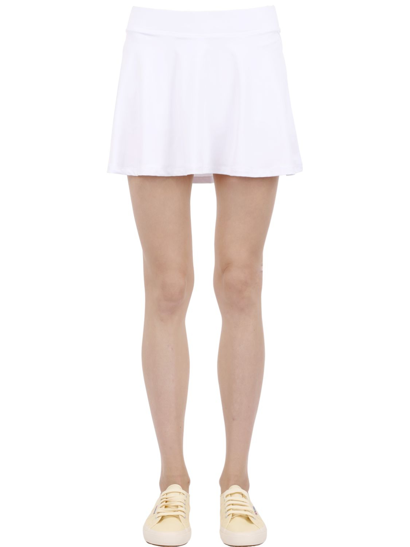 3338681bf0b9 Lyst - Le Coq Sportif Tennis Stretch Techno Skirt in White