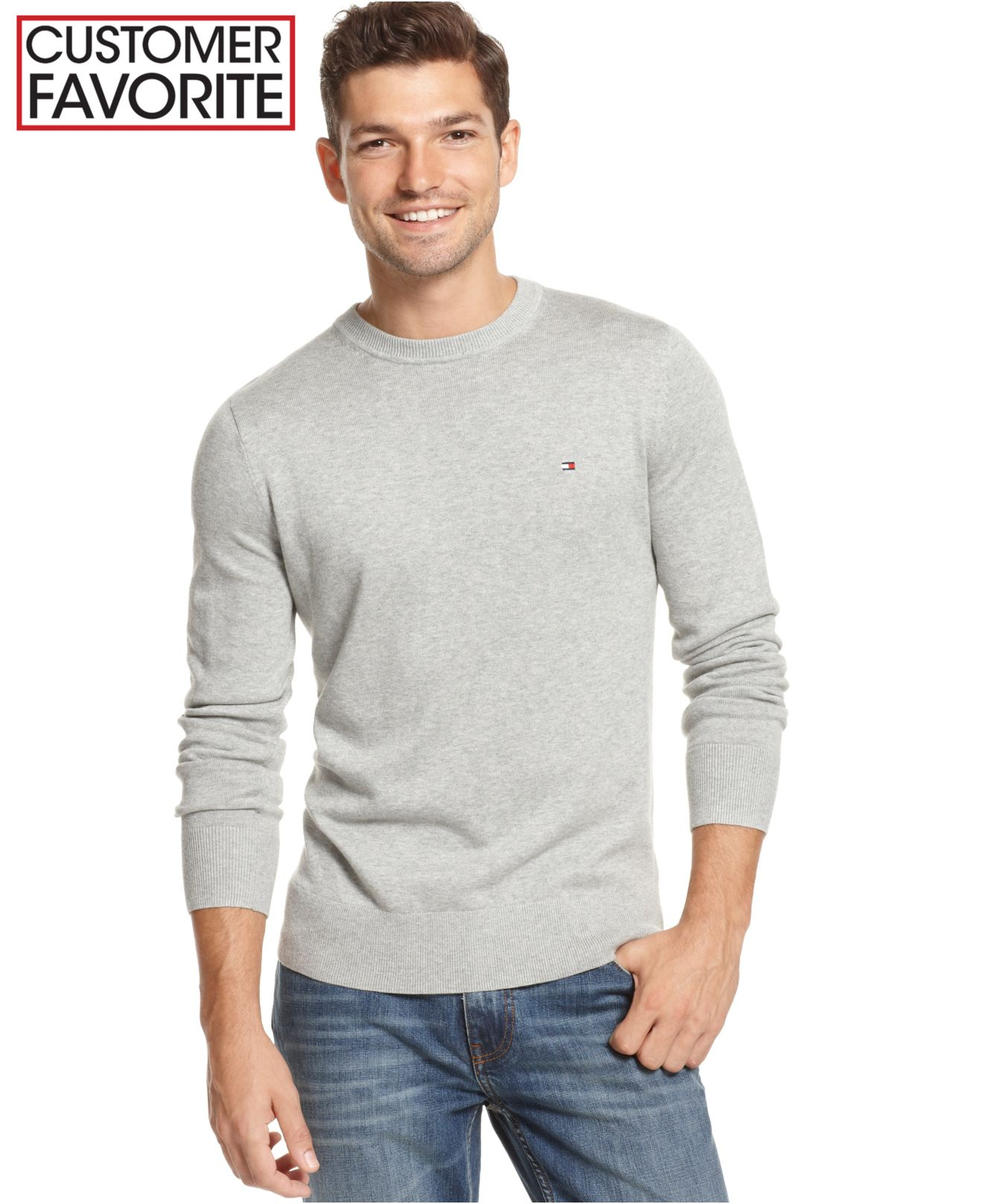 12c4cd59874b5 Tommy Hilfiger Mens Crew Neck Sweater - erva-cidreira.info