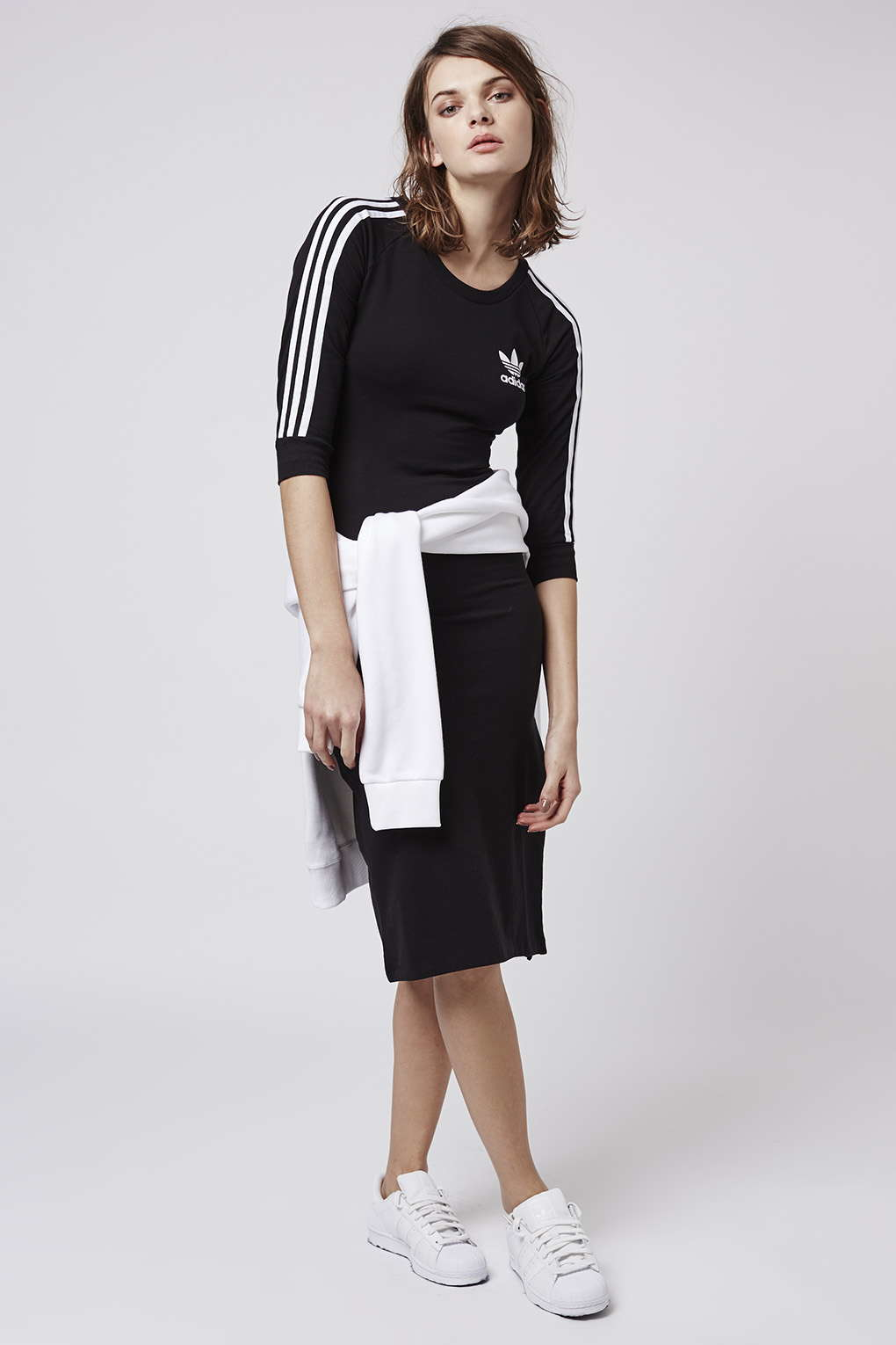 363e3e1dd63 TOPSHOP Three Stripe Dress By Adidas Originals in Black - Lyst