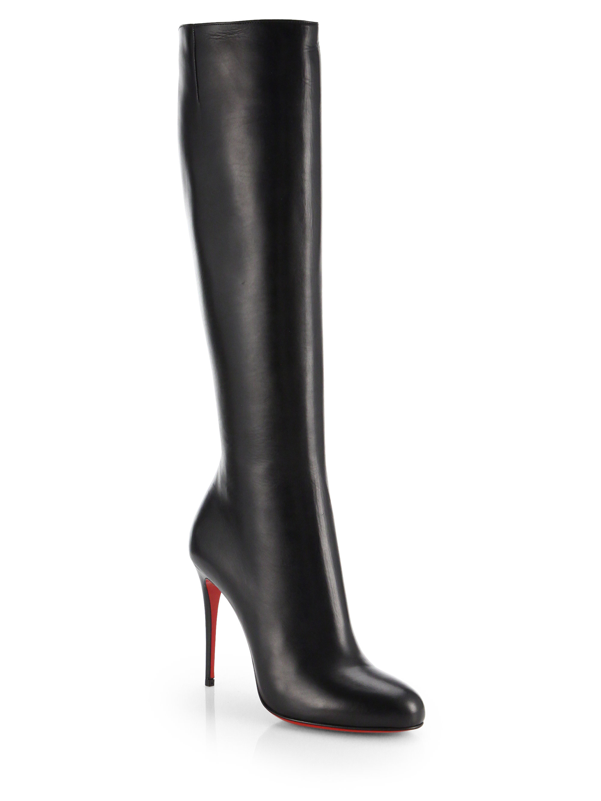 4f5ad7173d17 Lyst - Christian Louboutin Fifi Botta Suede Knee-high Boots in Black