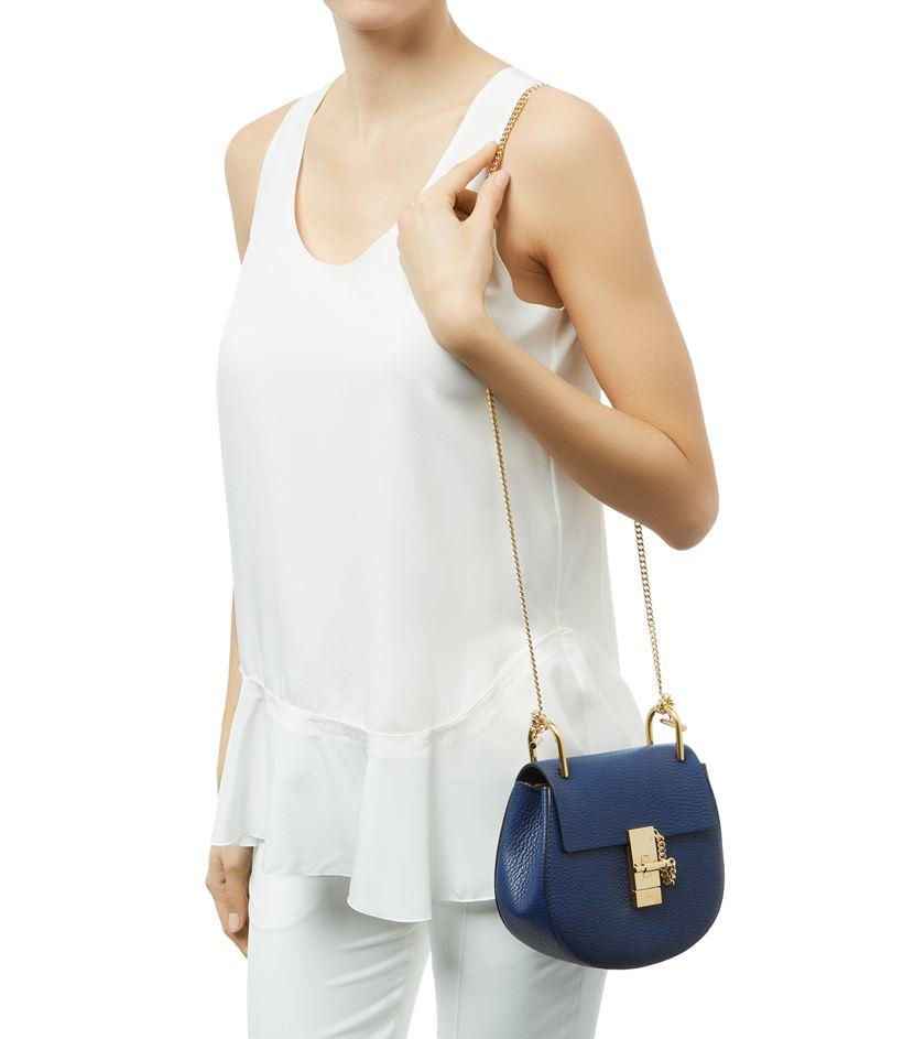 chloe grey bag - Chlo�� Mini Drew Shoulder Bag in Blue | Lyst