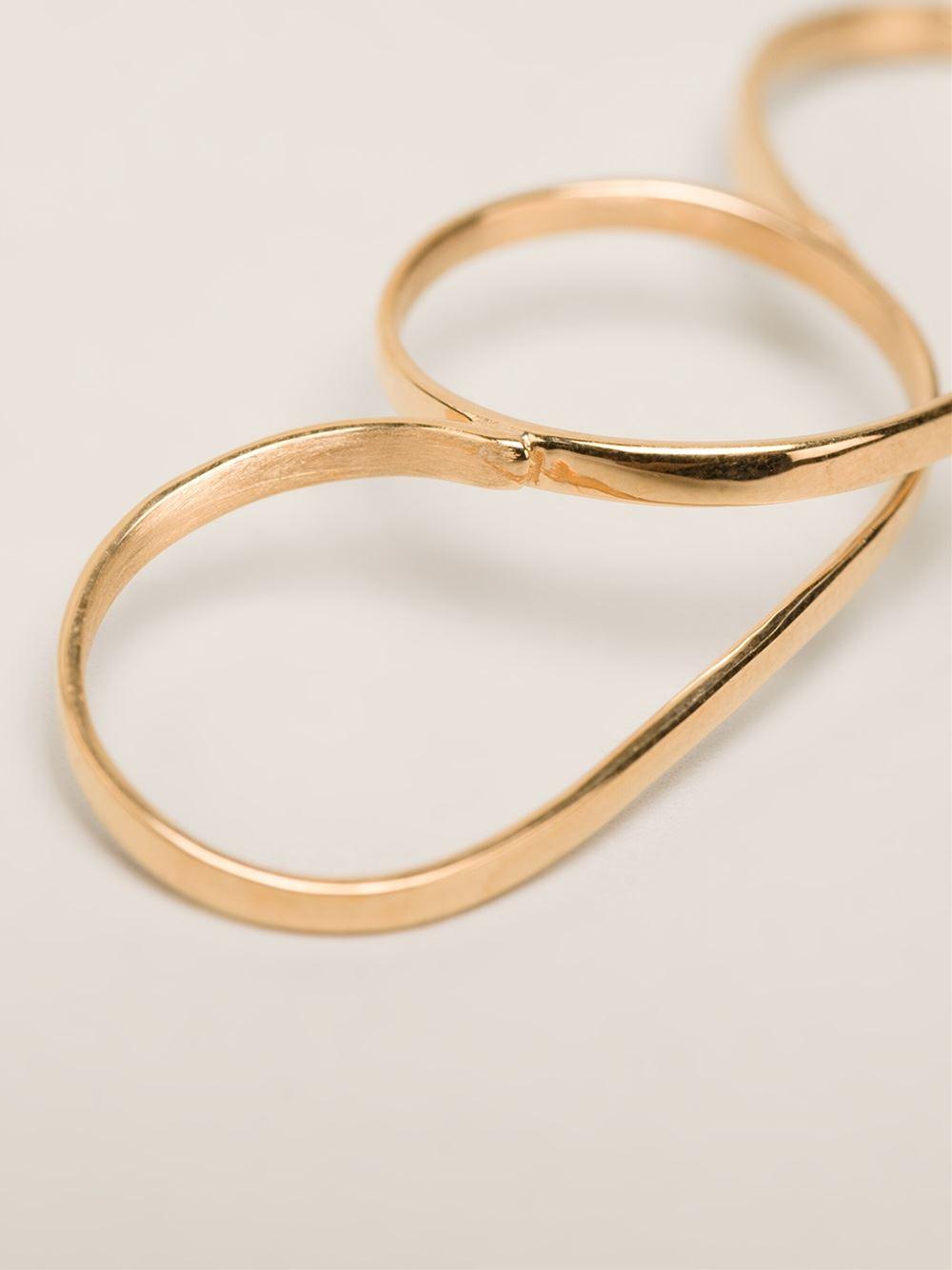 Vibe Harsløf stone hoop bracelet - Metallic 9K7QhOAJ13