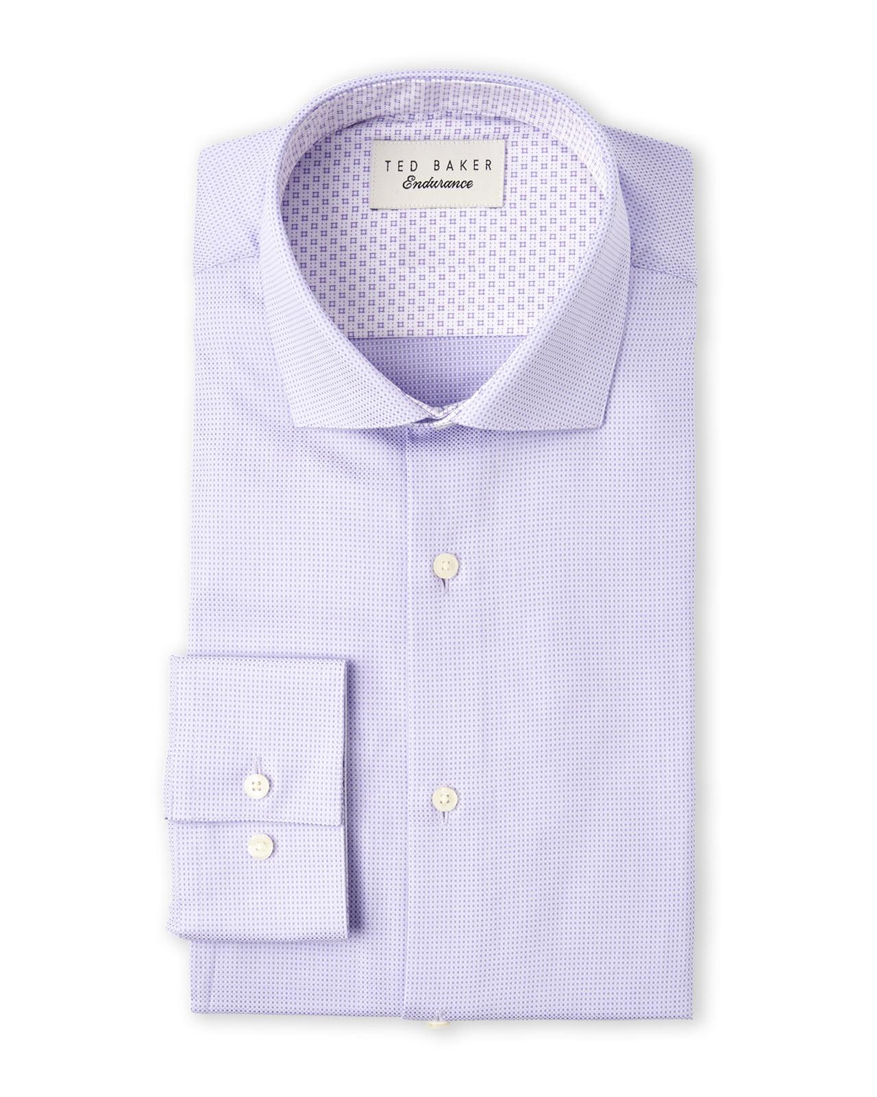 743aada2eeee2 Lyst - Ted Baker Endurance Purple Beal Slick Rick Dress Shirt in ...