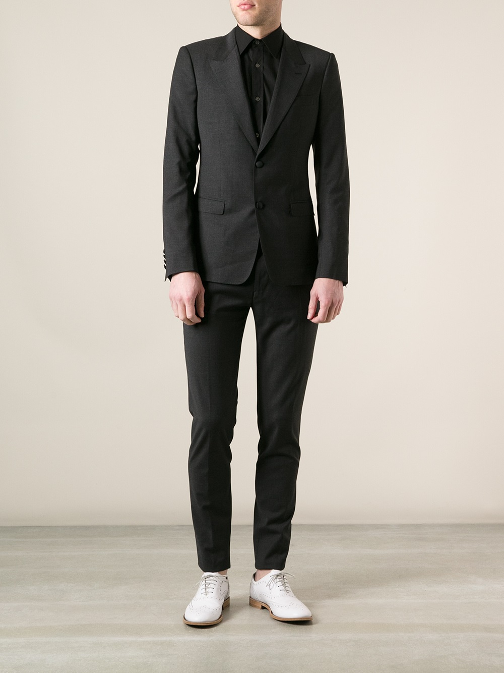Dolce Amp Gabbana Jacket And Trousers Suit In Gray For Men