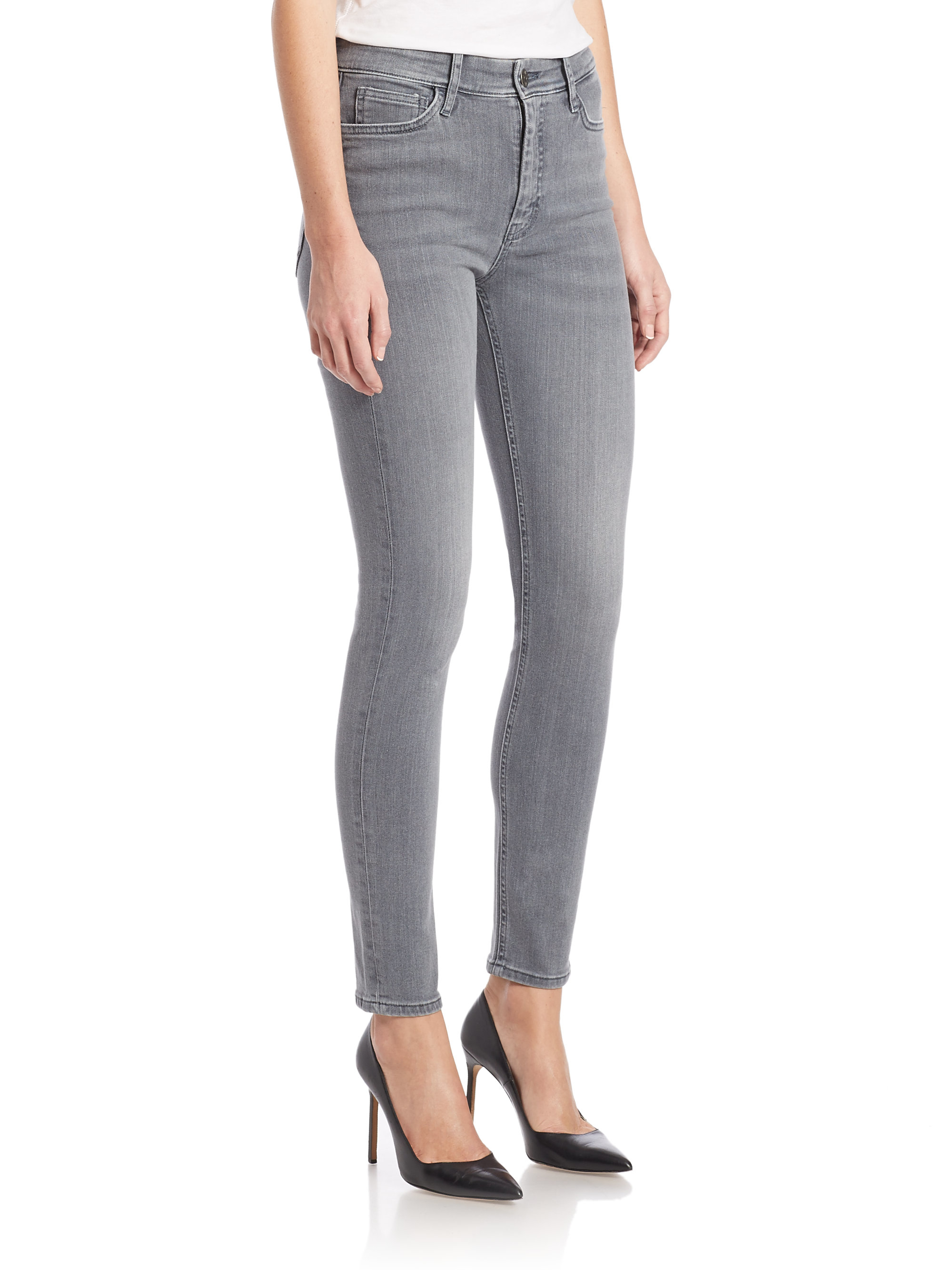 Gallery. Previously sold at: Saks Fifth Avenue · Women's Gray Jeans Women's High  Waisted Jeans