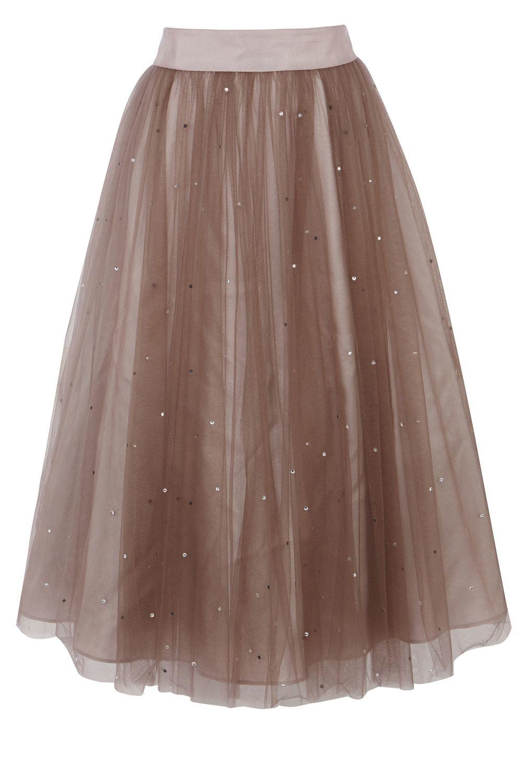 Coast Selbessa Tulle Skirt in Pink