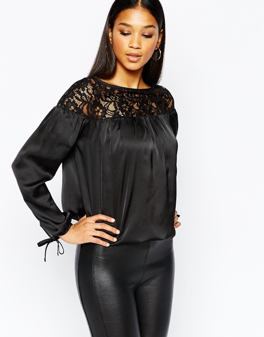 315d47a1d6dc3f Black Lipsy Lace Long Sleeve Blouse