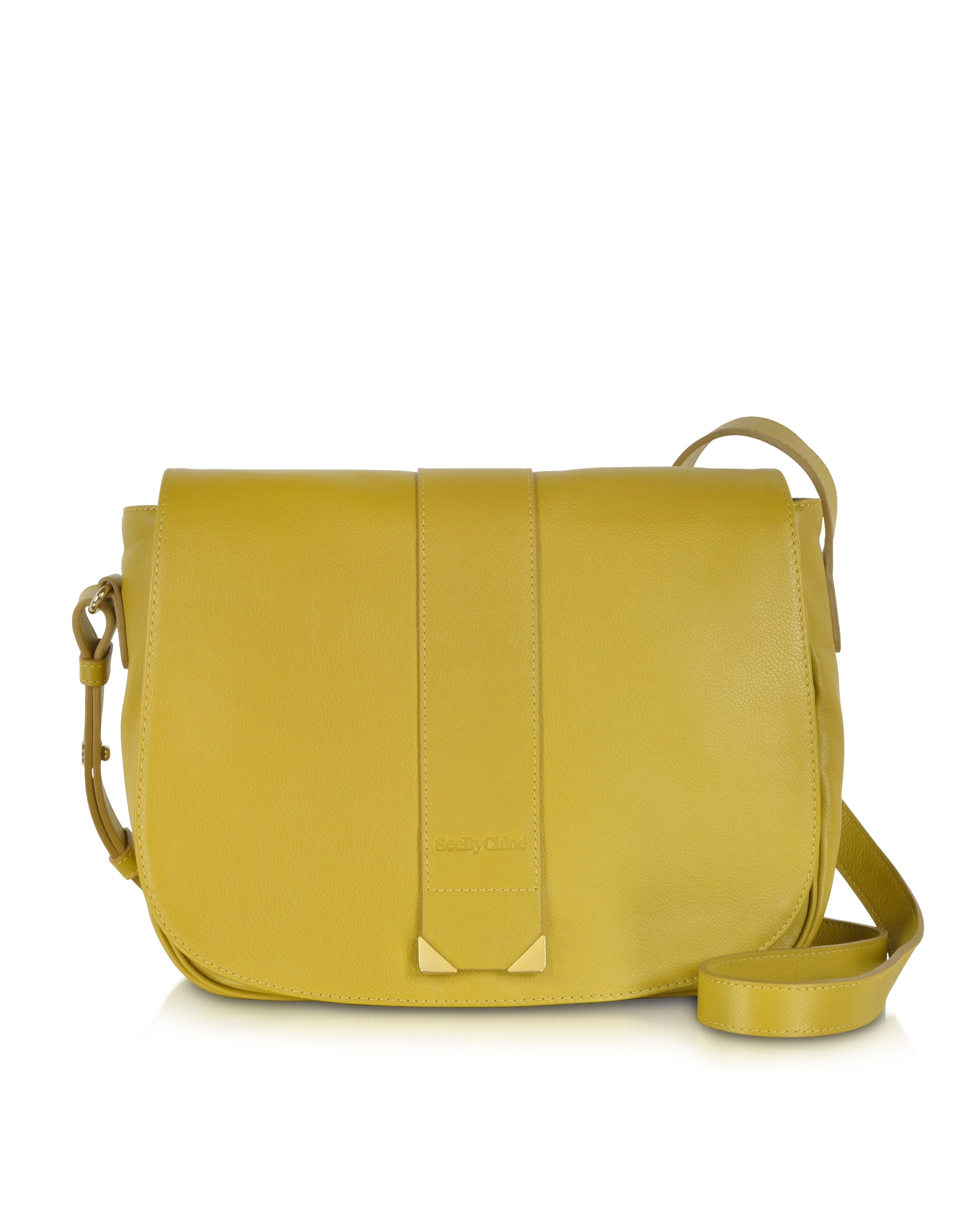 chlo 233 daisie bamboo leather crossbody bag in yellow lyst