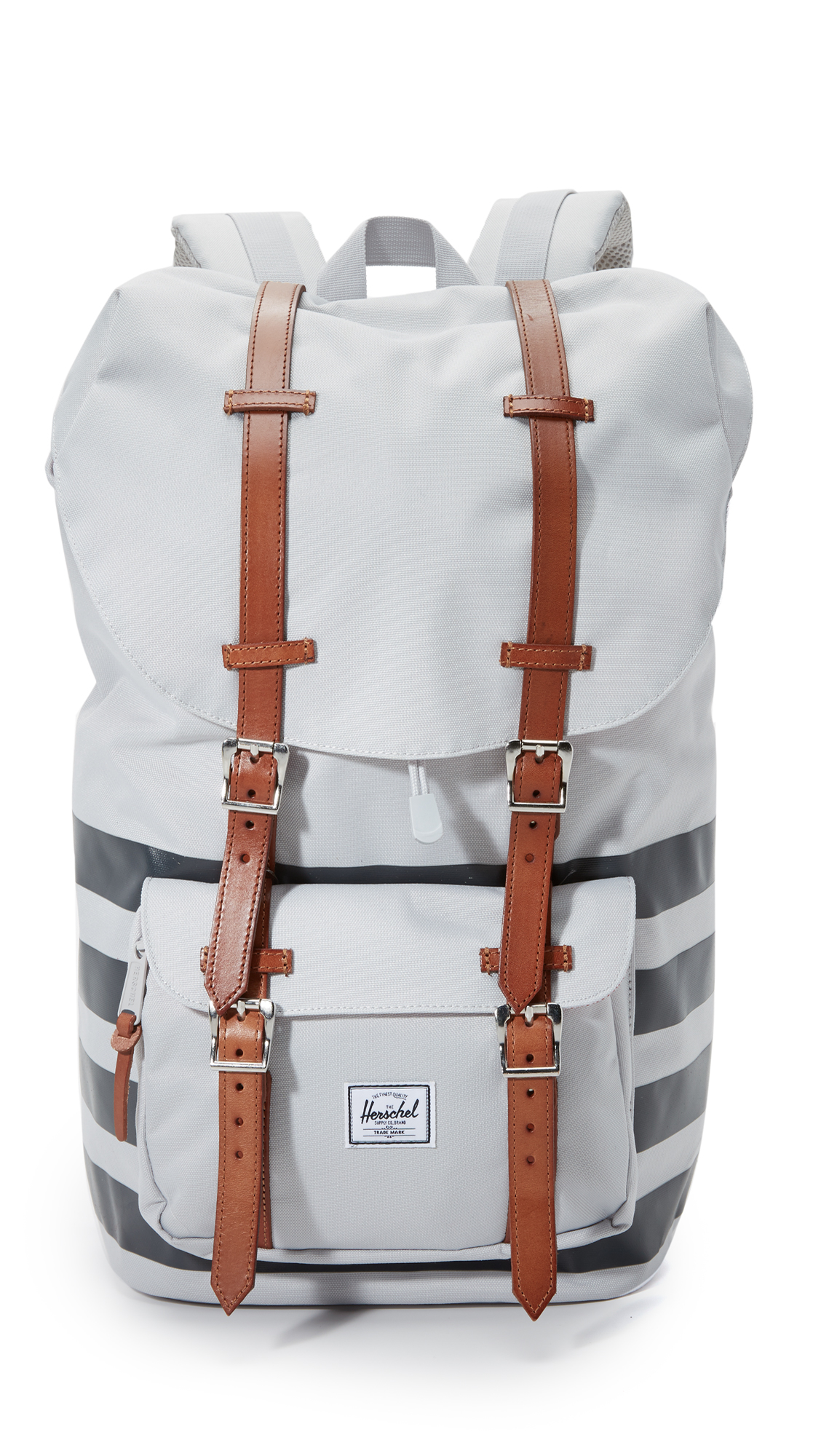 Lyst - Herschel Supply Co. Offset Little America Backpack in White ... 88653d71fe
