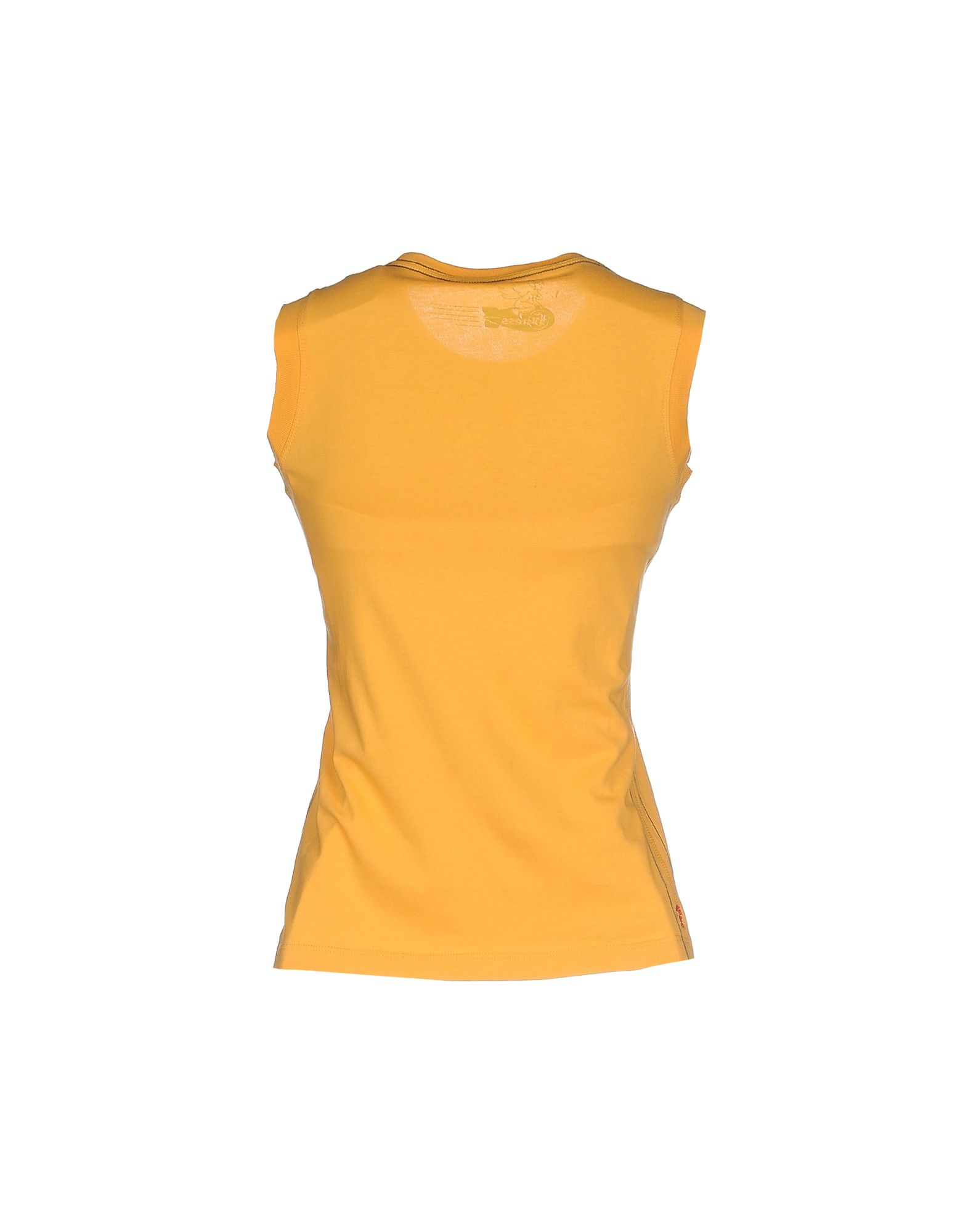 lyst guess t shirt in yellow. Black Bedroom Furniture Sets. Home Design Ideas