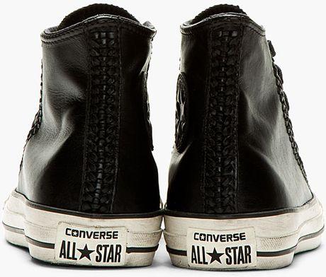 Black converse leather