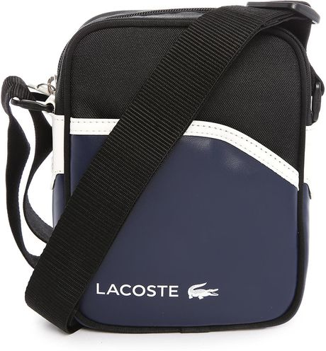 Awesome Lacoste Black Small Format Shoulder Bag In Black For Men  Lyst
