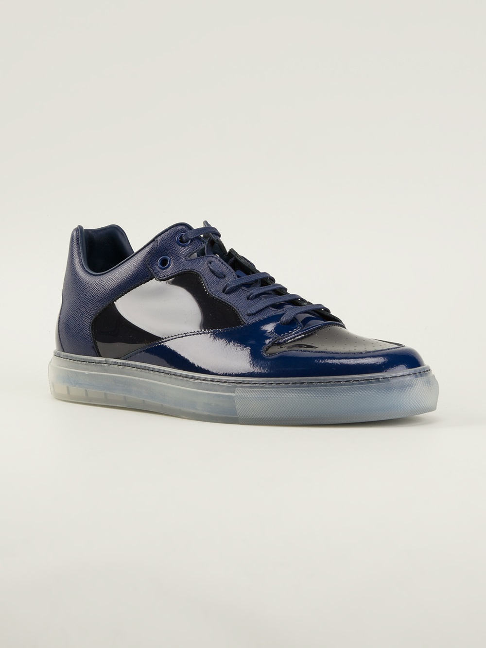 balenciaga panelled sneakers in blue for men lyst. Black Bedroom Furniture Sets. Home Design Ideas