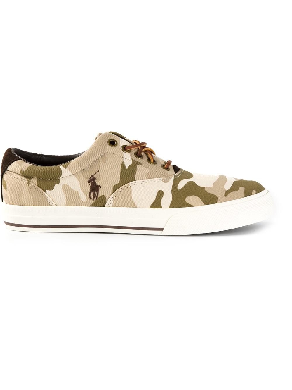 Polo Ralph Lauren Camouflage Sneakers In Green For Men Lyst