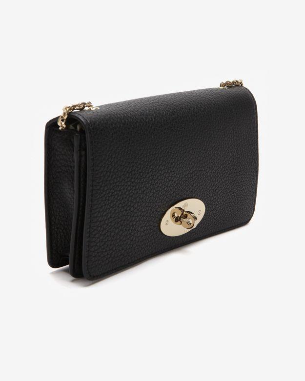 Lyst Mulberry Bayswater Black Soft Grain Wallet Clutch