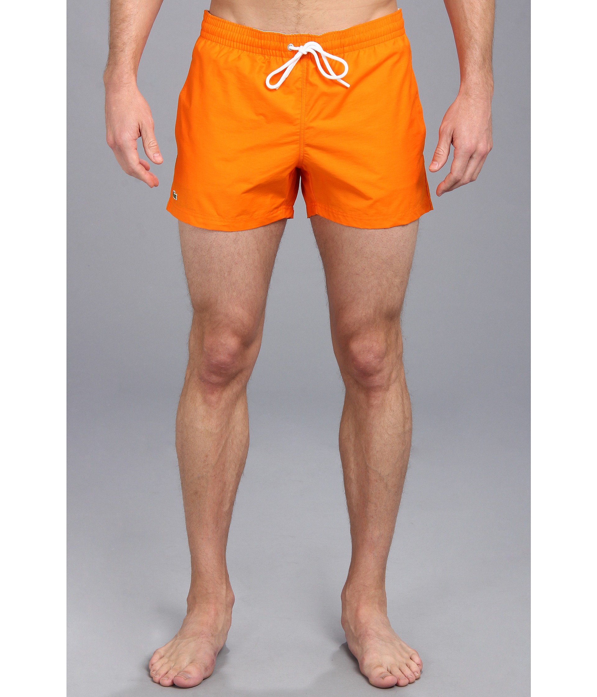 b4c325e588e2d Lyst - Lacoste Classic Swim Trunk 35 in Orange for Men