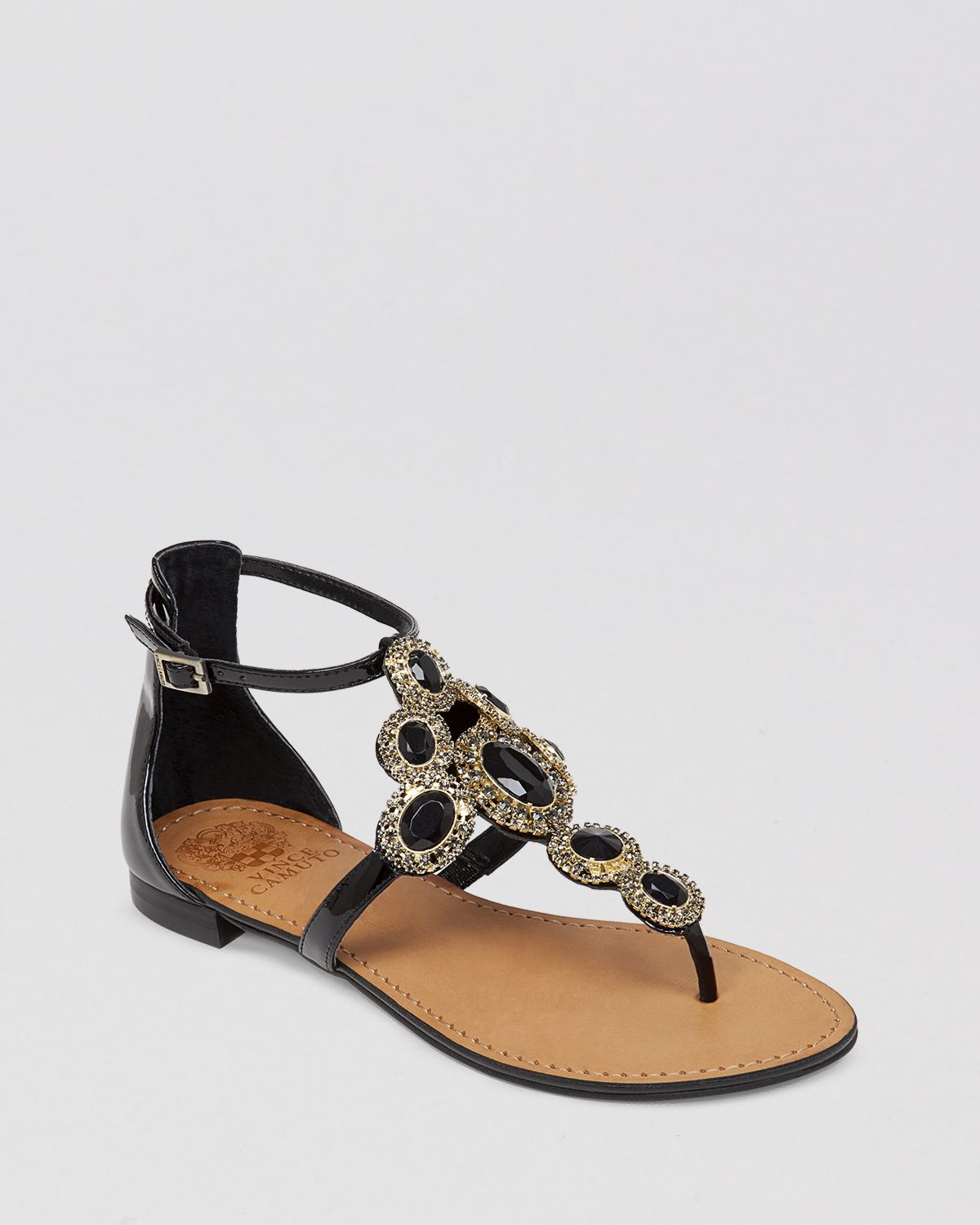 Lyst Vince Camuto Jeweled Thong Flat Sandals Manelle
