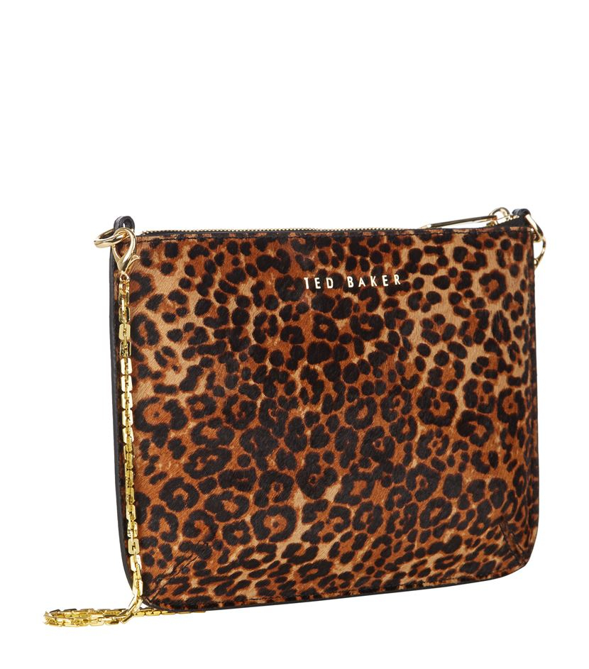 Ted Baker Valerie Leopard Ponyskin Clutch - Lyst 297a07ae7d342