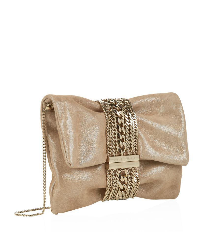 Jimmy choo Chandra Chain Crossbody Bag in Brown | Lyst