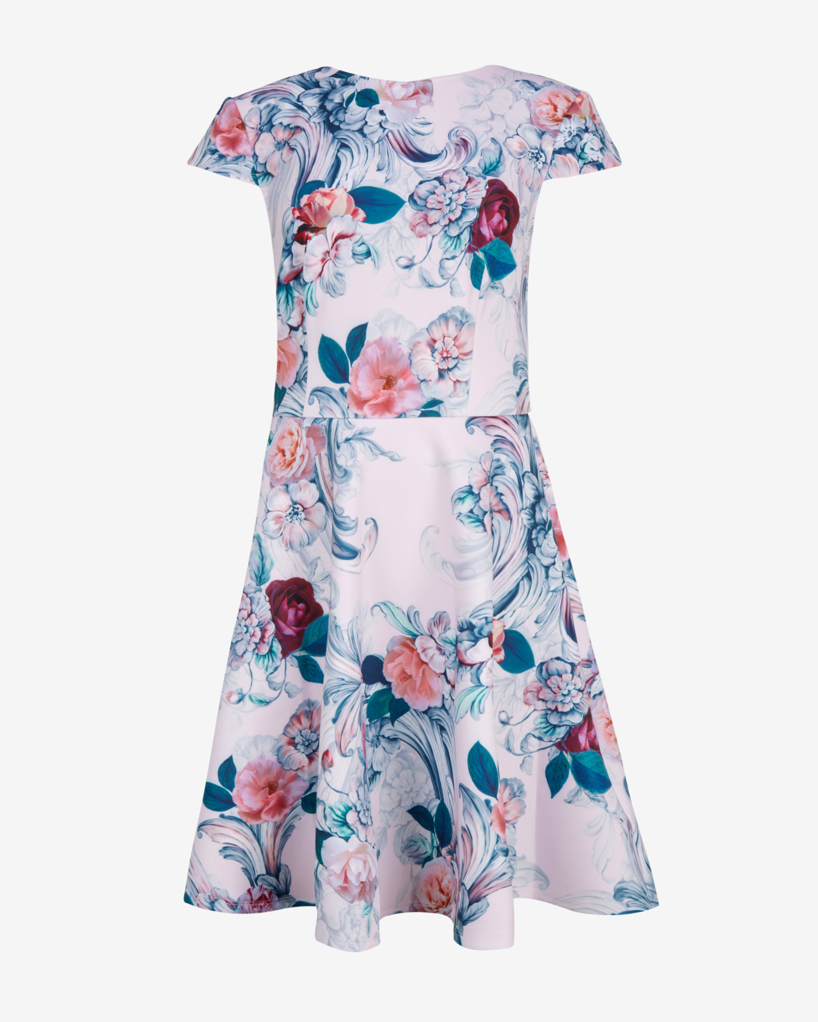 67c14d772ff0 Lyst - Ted Baker Acanthus Scroll Skater Dress in Pink