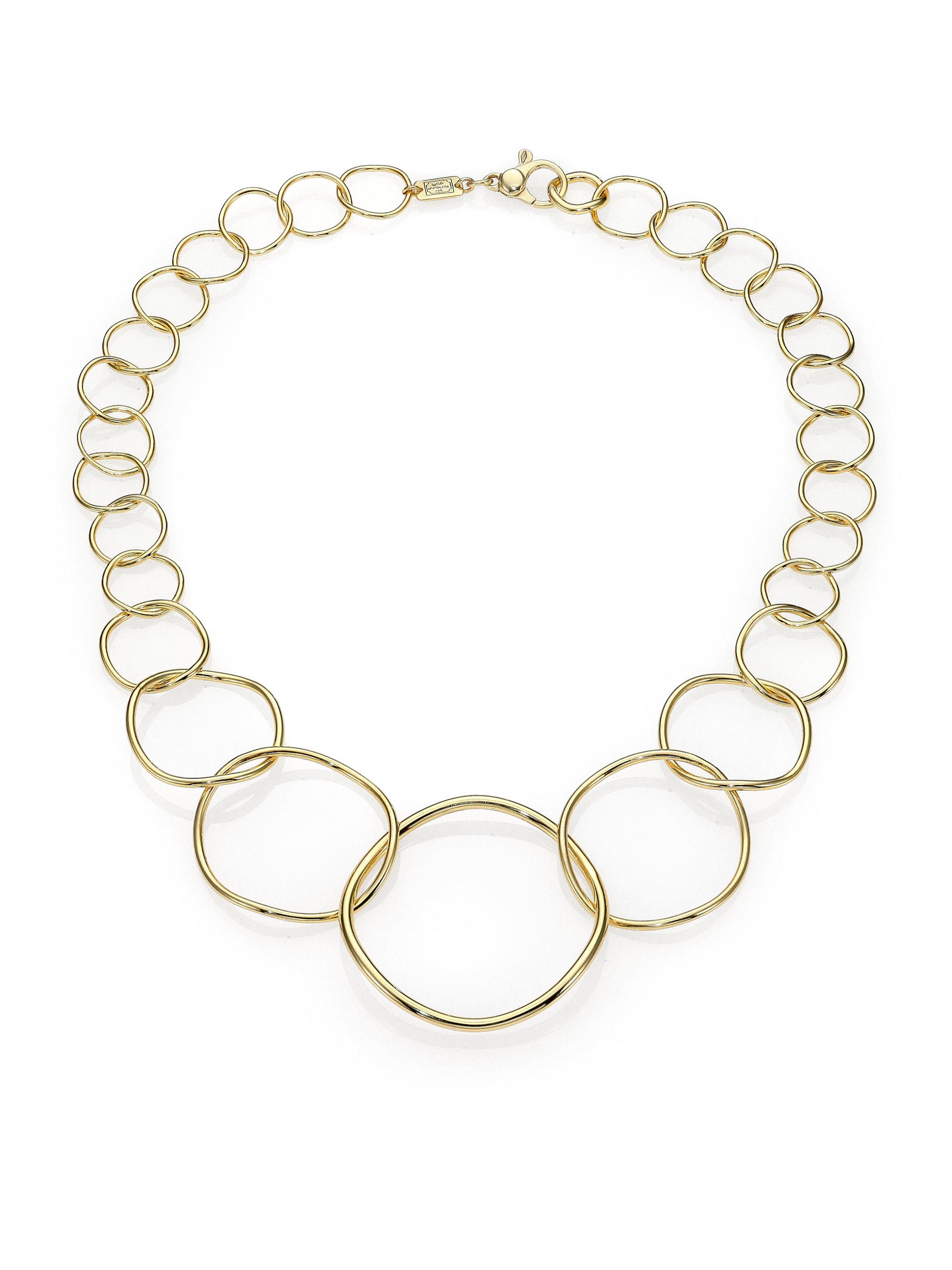 Ippolita Silver Glamazon Graduated Wavy Circle Necklace pF7YvyRF5S