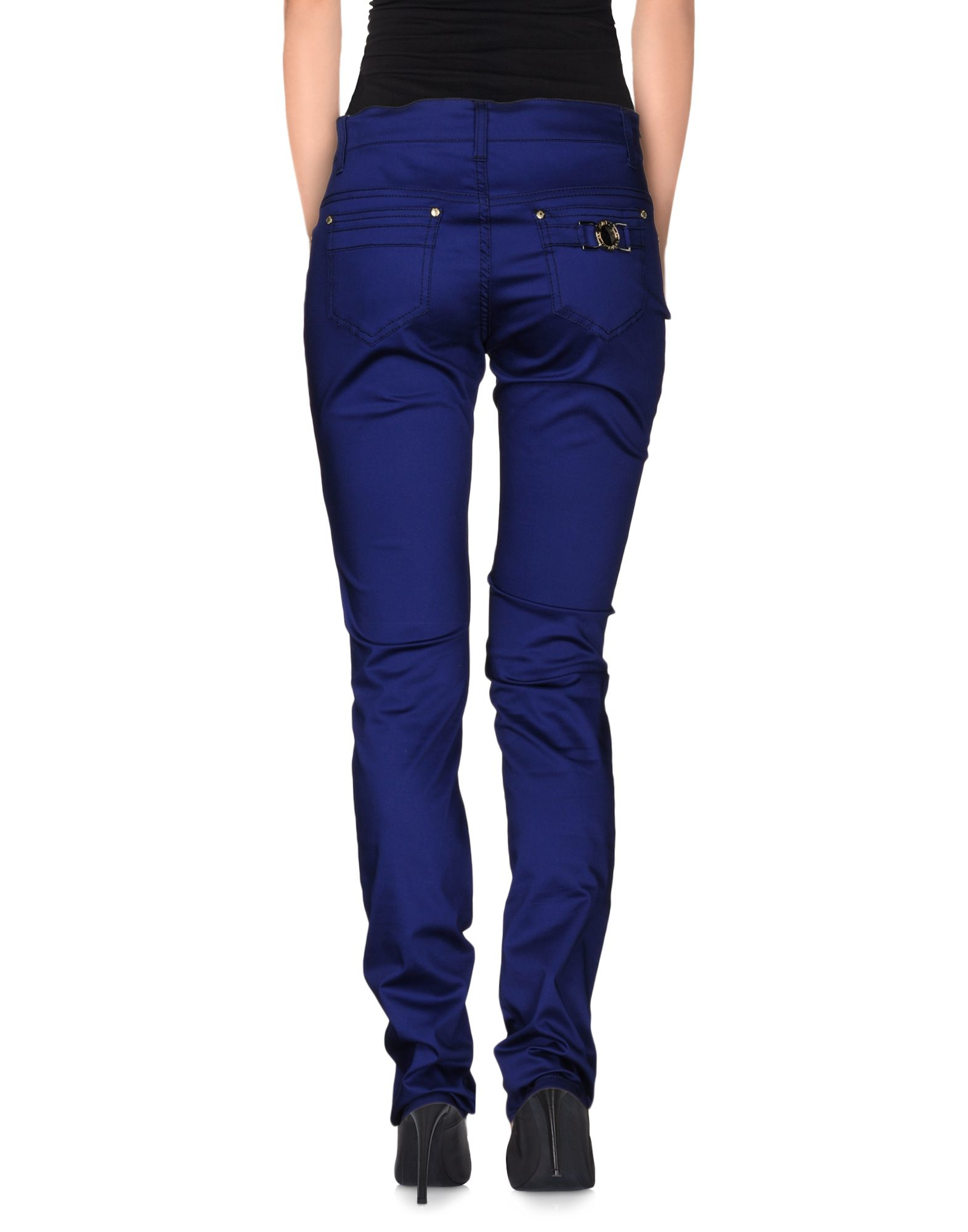 versace jeans casual trouser in blue lyst. Black Bedroom Furniture Sets. Home Design Ideas