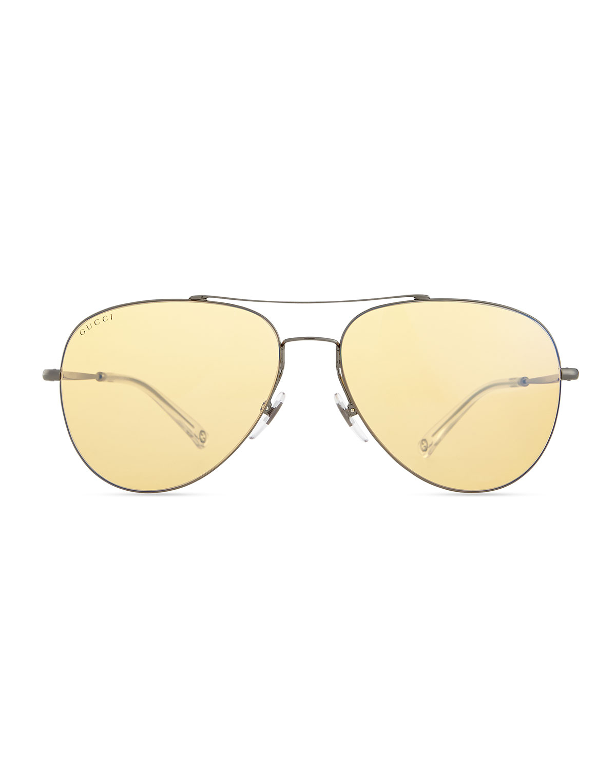 01bf14cee Gucci Flash-Lens Aviator Sunglasses in Yellow - Lyst