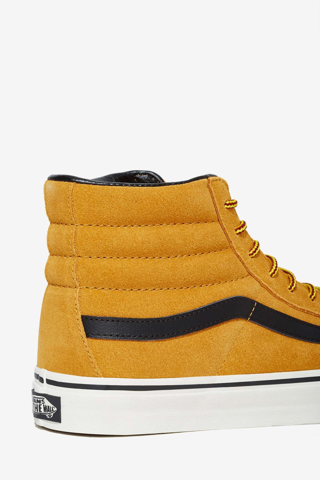 Lyst - Nasty Gal Vans Sk8-Hi Sneaker - Tan Suede in Brown eb9f77d60