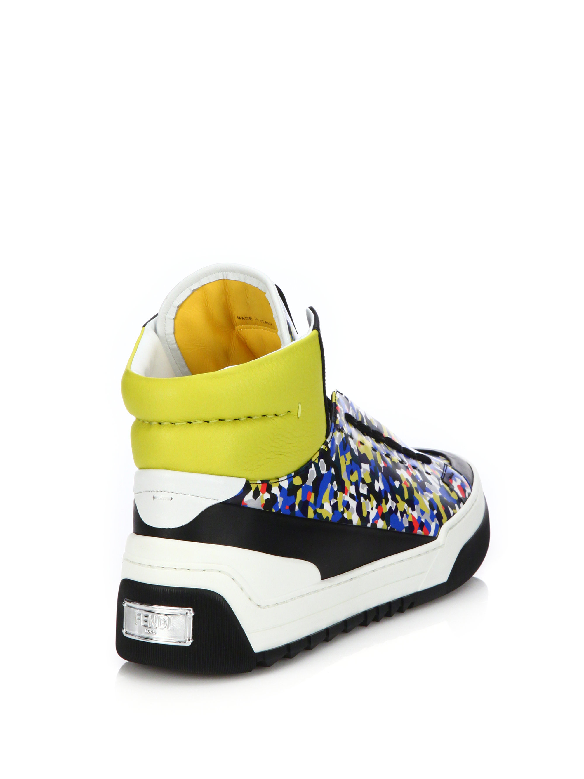 2d7f4948e0ac89 Fendi Multi Color High Top Sneakers for Men Lyst