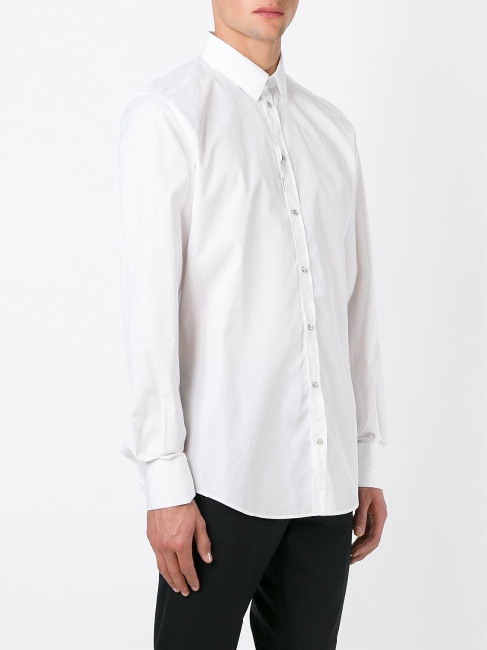 Dolce Gabbana Classic Shirt In White For Men Lyst