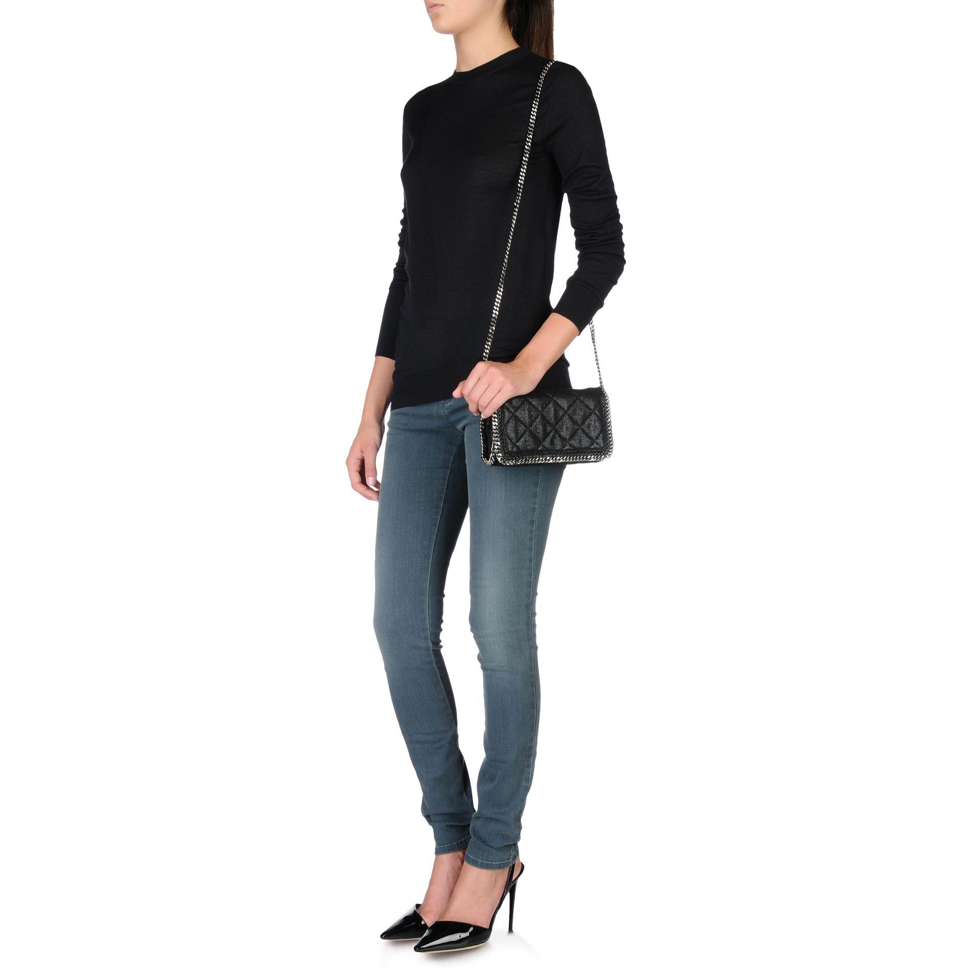 Stella McCartney Falabella Quilted Cross Body Bag in Black - Lyst 7f6eab2ac5306