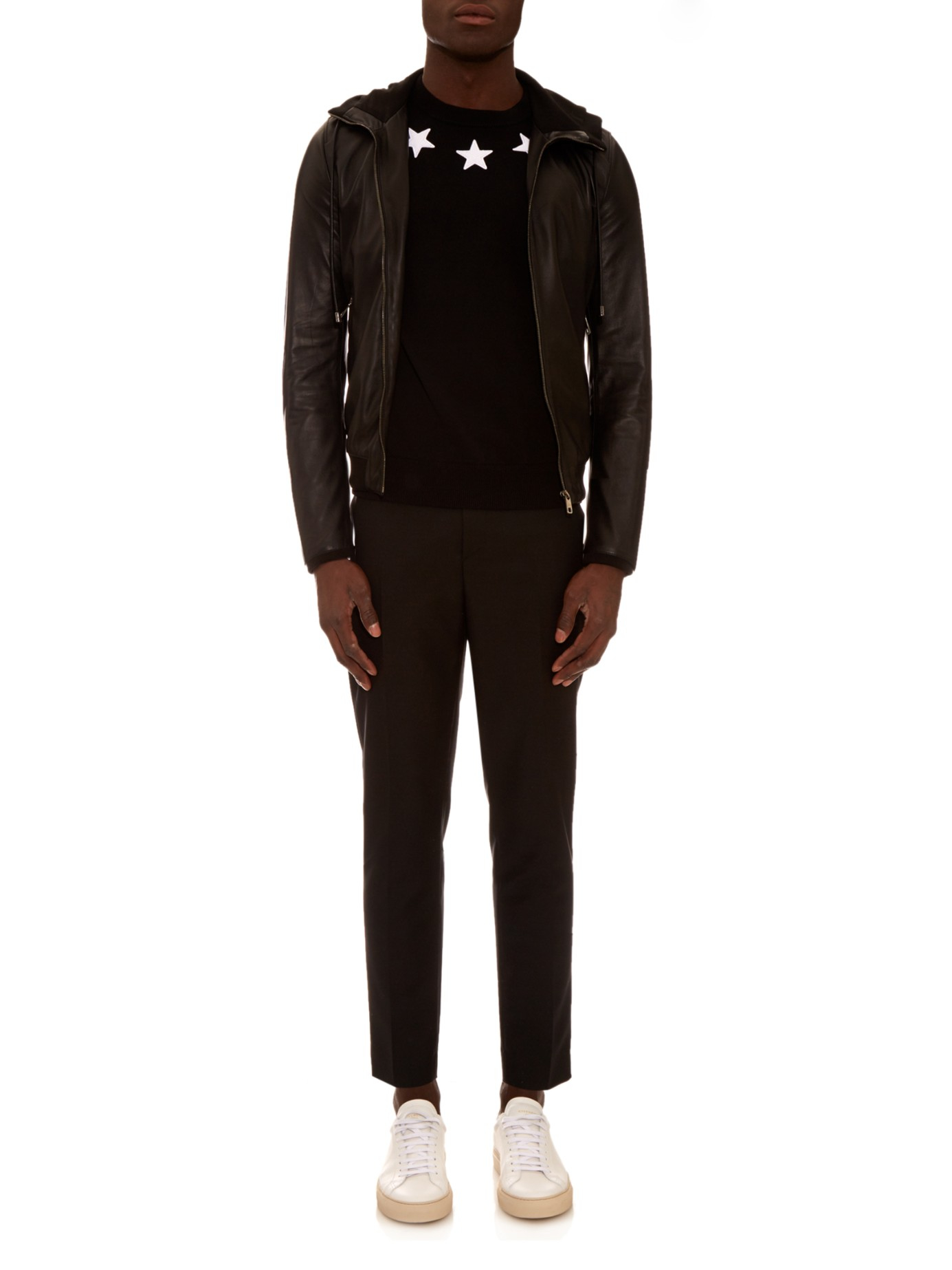 0d455409dc015 Lyst - Givenchy Cuban-fit Star Appliqué Sweater in Black for Men
