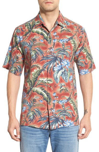 Lyst tommy bahama 39 outback oasis 39 short sleeve silk camp for Tommy bahama short sleeve silk camp shirt
