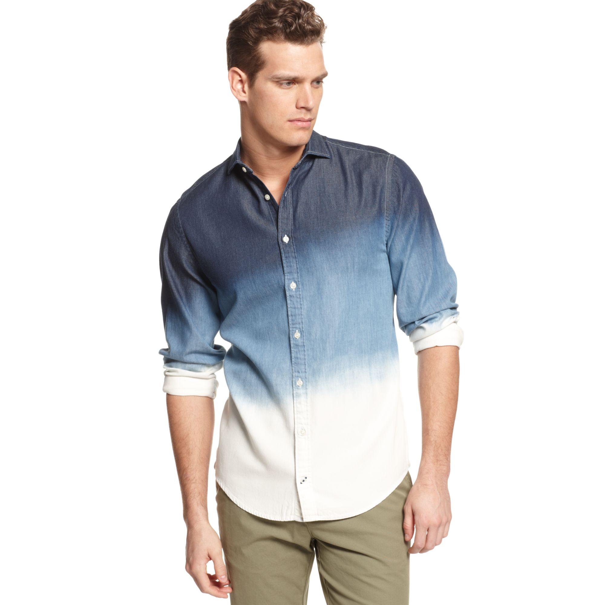 Tommy Hilfiger Dipdye Denim Shirt European Collection In