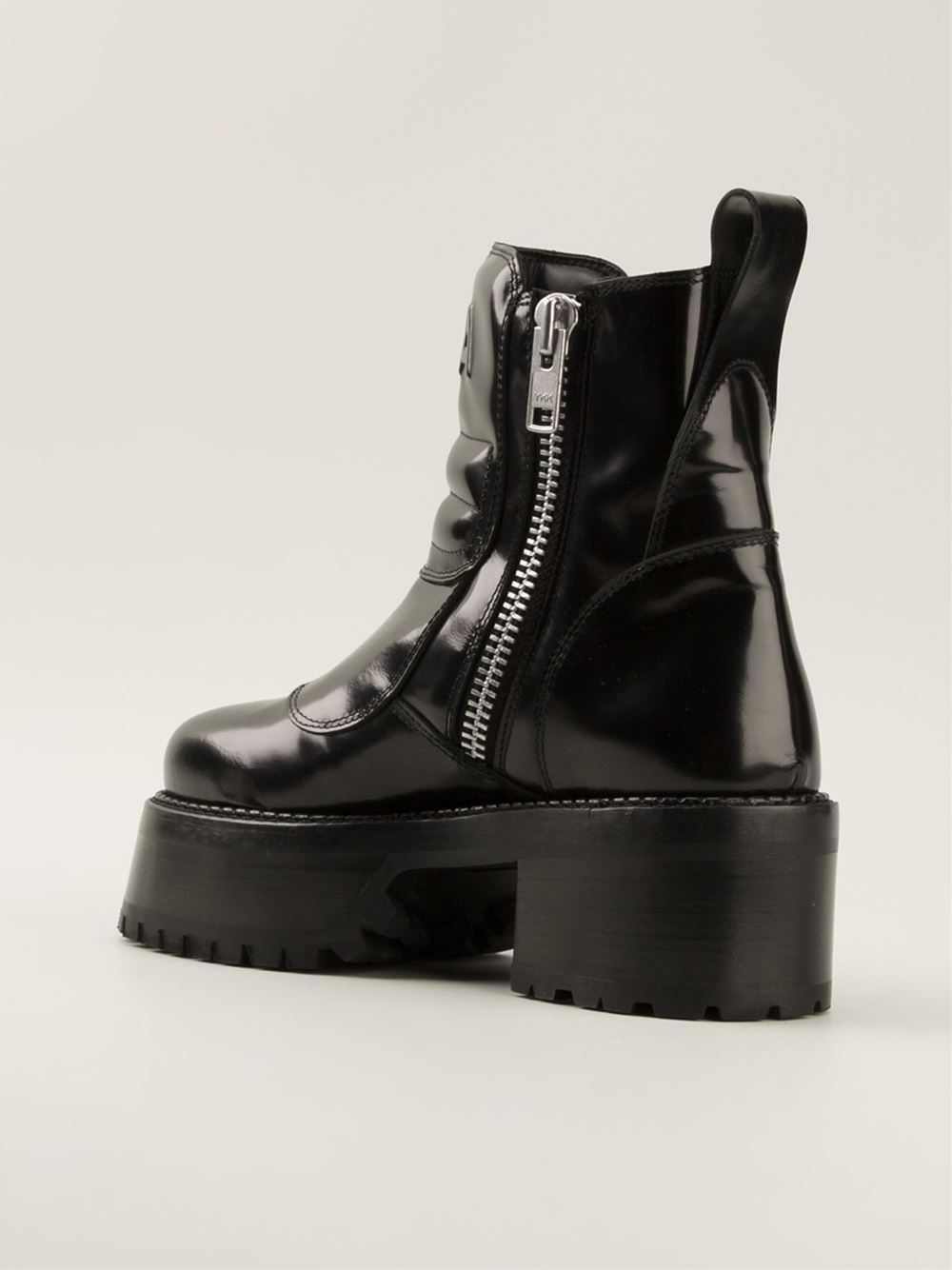 Hood by air Platform Boots in Black | Lyst