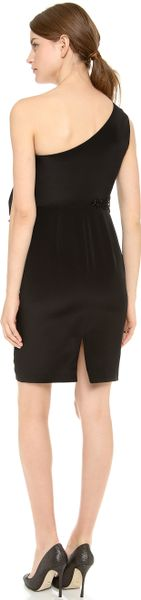 Notte By Marchesa One Shoulder Crepe Cocktail Dress in  (Black) - Lyst